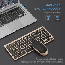 Jelly Comb 2.4G Wireless Keyboard Mouse Combo Set Ultra Slim Portable Keyboard and Mice for PC Desktop Computer Notebook Laptop