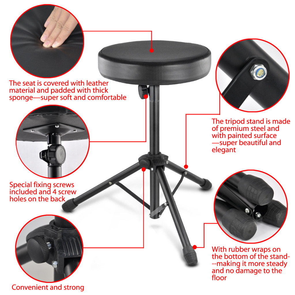 FLST Pro Quality Folding Music Guitar Keyboard Drum Stool Rock Band Piano  Chair Seat In Cushion From Home U0026 Garden On Aliexpress.com | Alibaba Group