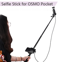 Buy Outdoor Extension Pole Selfie Stick for DJI OSMO Pocket Phone Clip Module Handheld Gimbal Cable for Type-c IOS Android Phone directly from merchant!