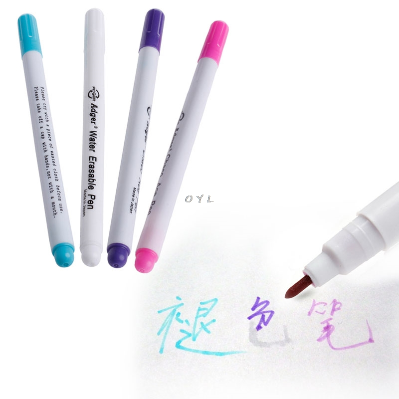 Auto Vanishing Pen Water Erasable Fabric Marker Pen Marking NoteTextile Tool