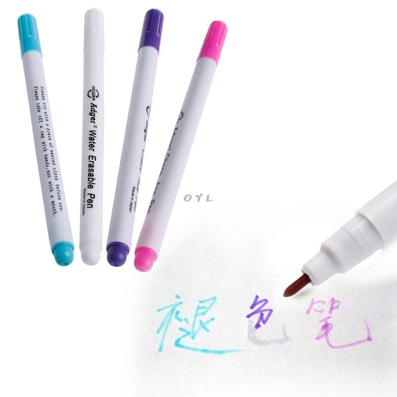 1x Pen Fabric Marker Eraser Air Erasable Fine Purple Tool Hobby Art UK