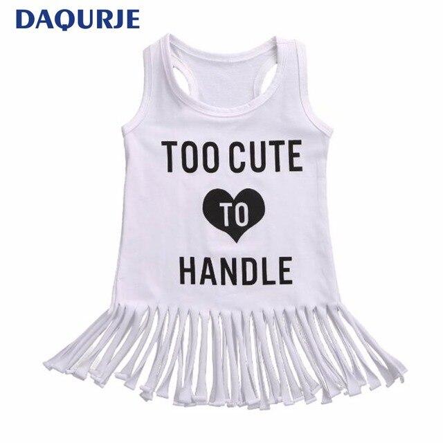 cdc52a2d4 Fashion 2018 Summer Girls Dress Tassel Baby Kids Clothes Sleeveless Vestidos  Alphabet Leisure Dresses Children Clothing