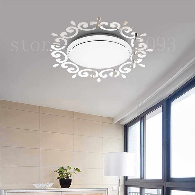 3D Mirrors Wall Stickers For Living Room Decoration DIY Modern Wall Art Mirror Decals Mural Ceiling Decoration Vinyl Sticker