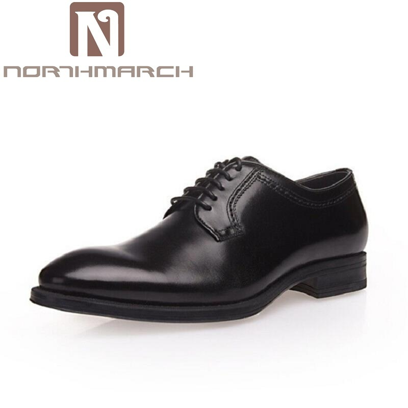 NORTHMARCH New Fashion Men Wedding Dress Shoes Pointed toe Business Black Shoes British Lace-up Comfortable Men's Shoes light bulb camera vr 360 degrees wifi3d fisheye panoramic light camera network led