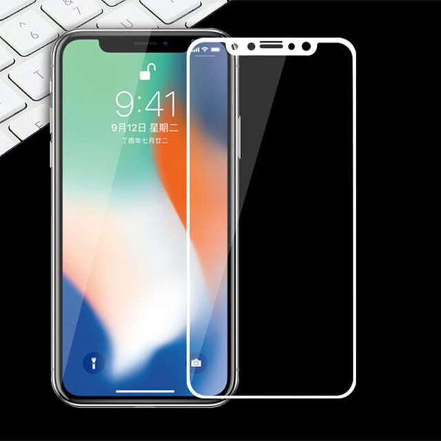 sneakers for cheap 273a8 ca9bf US $1.39 30% OFF|For iPhone X Screen Protector Glass For Apple iPhone X  Original Full cover Tempered Glass For iPhone X 5.8
