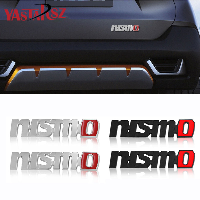 3D Metal Car Logo Sticker Auto Badge Emblem Decal For Nissan Nismo Tiida Teana Qashqai Juke X trail Note Almera Skyline Styling