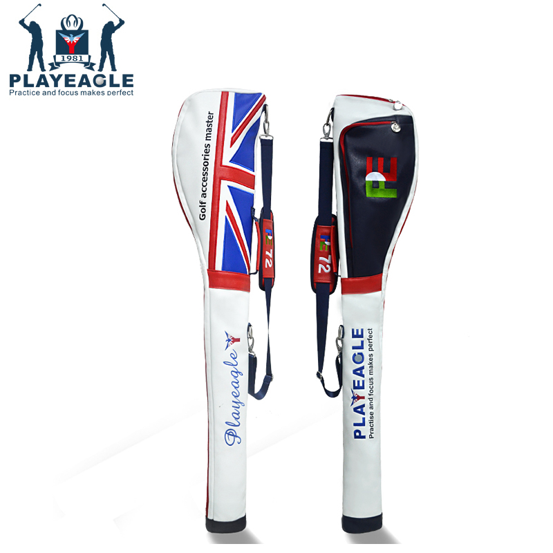 Golf Bag Lightweight Solf PU Leather Foldable for Men and Women Golf Half Clubs Golf Sunday Bag Aviation Golf Bag new golf aviation bag portable golf package golf travel bag pu cover thicken air bag with wheels