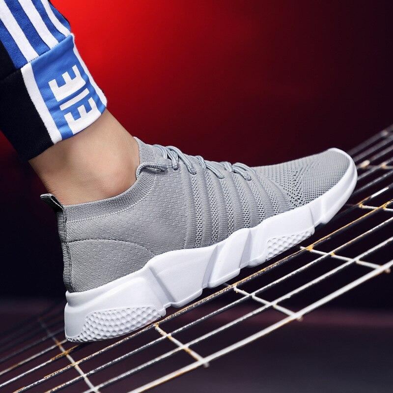 Ariari 2018 Nouveau de Mode Hommes Sneakers Respirant chaussures de Maille chaussures Hommes Casual Lace-up Hommes Taille 39 -48 plat chaussures pour hommes