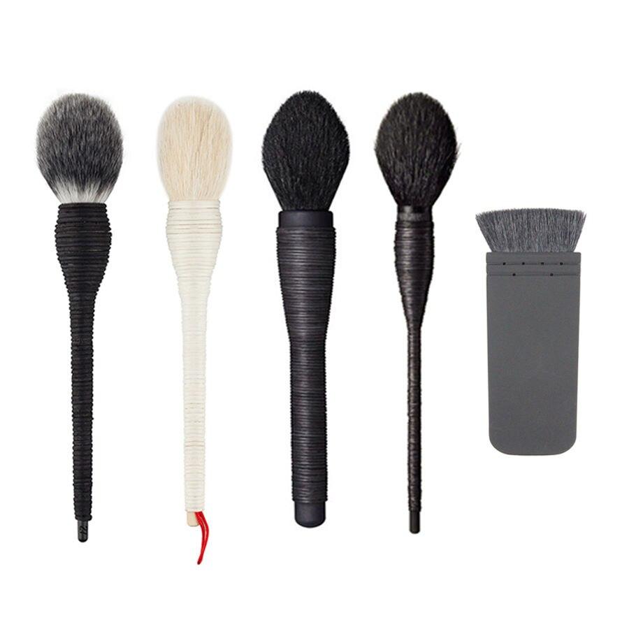 Newest 2017 Black White Handmade Rattan Makeup Brush