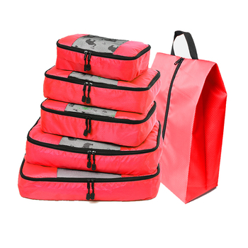 Compression Packing Cube Luggage Organizer/Double Zip Travel Bag Men's/Female/Children's/Foldable/Large Capacity/Nylon/Organizer