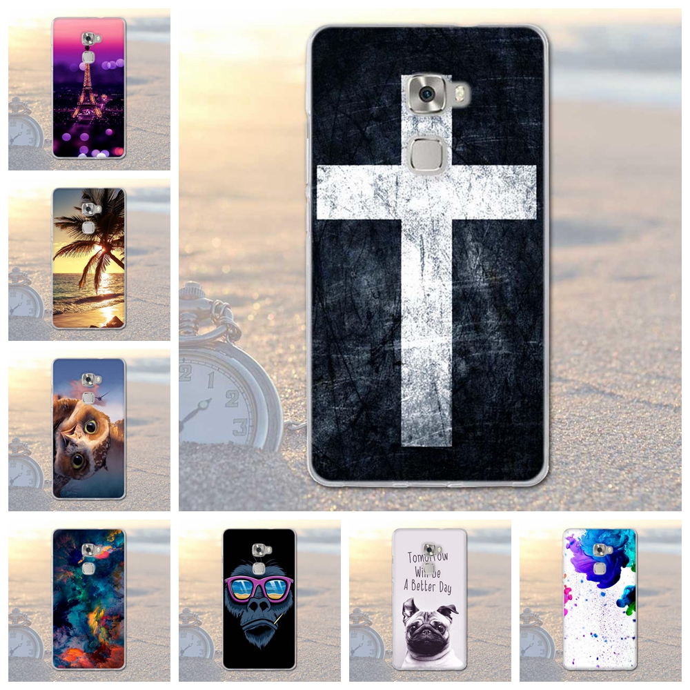 Soft Silicon Case for huawei mate s Phone Cases Cover Phone Fundas for huawei Mate S Back Cover Phone Coque 3D Flower Paint Capa