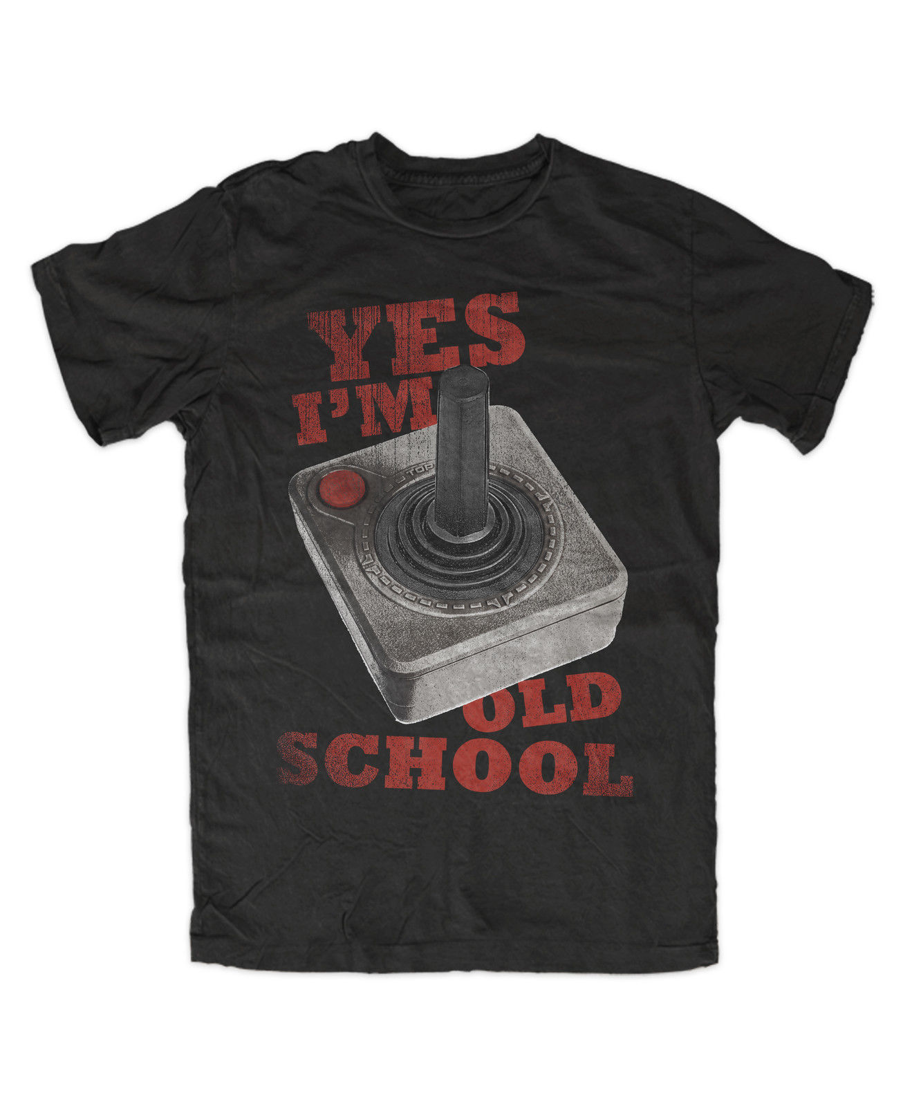 Old School Joystick Premium T-Shirt Game,Gamer,Nerd,Kult,Fun,Video,Highscore Short Sleeve Casual O-Neck Cotton Gray Style ...