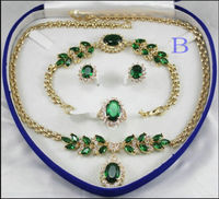 Bridal Fashion Jewellery Women 's Necklace Bracelet Earring Ring Set more colAA (A0503)