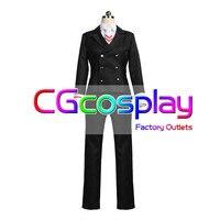 CGCOS Express Cardcaptor Sakura: Clear Card Syaoran Li School Uniform Coat Anime Game Cosplay Costume Halloween Christmas