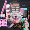 NEW 24in1 Acrylic Nail Art Tips Liquid Buffer Reusable Form Sanding File Tools Set Russia