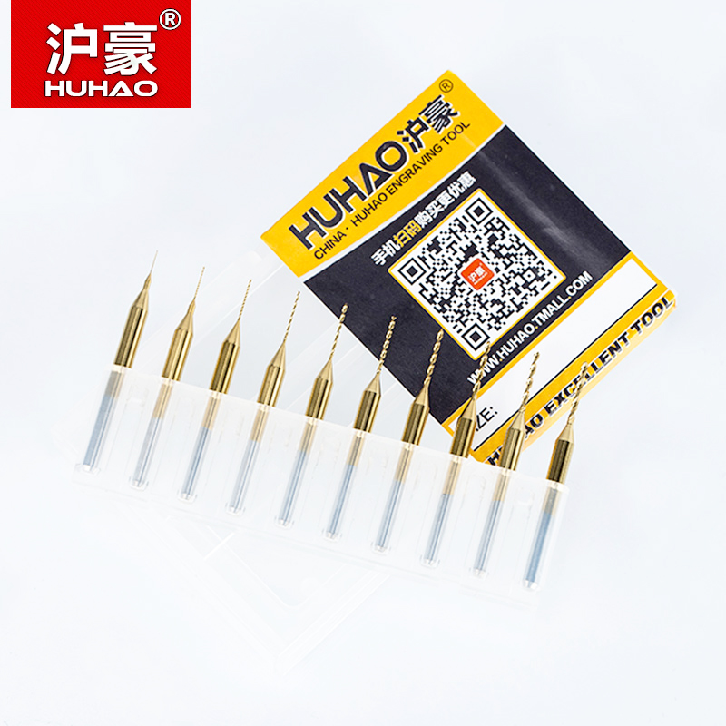 HUHAO 10PC Titanium coat Carbide PCB mini taladro Bit 0.2mm a 1.1mm - Broca - foto 6