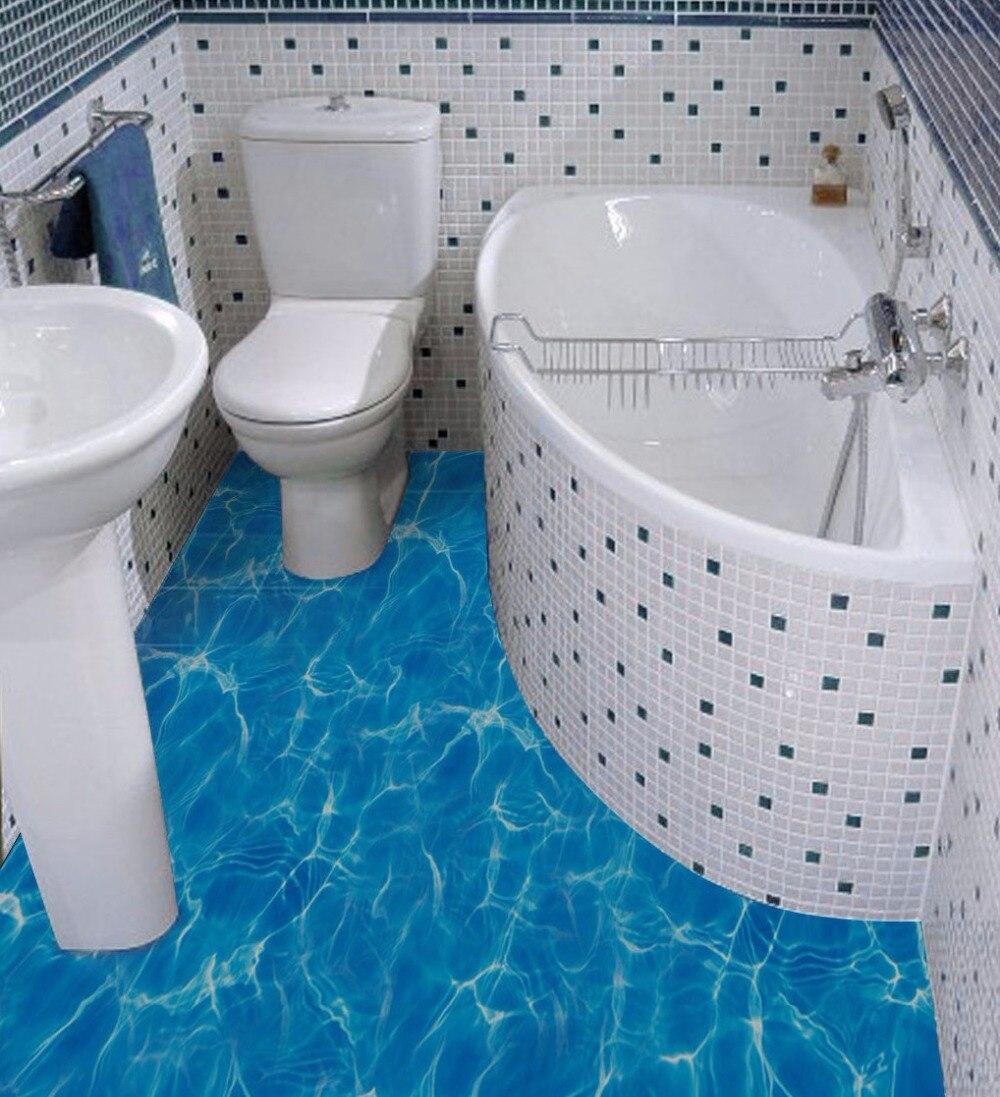 3d Floor Paintings Bathroom - Free shipping 3d sea water surface corrugated floor painting bathroom kitchen restaurant hallway non slip