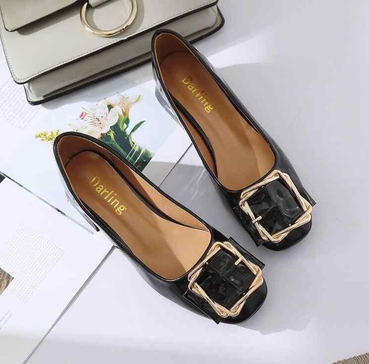 Sıcak satış bahar Kadın Ayakkabı Kadın Moda Düz PU deri Kadın Ayakkabı Kayma rahat sığ Kadın ayakkabı Artı Boyutu 35-39 ** 152