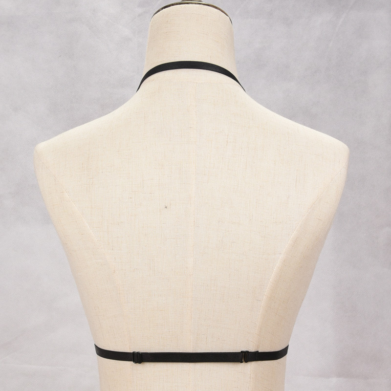 HTB1McDkNVXXXXaaXVXXq6xXFXXXv Goth Fetish Wear Black Frame Cage Bra Bondage Harness For Women