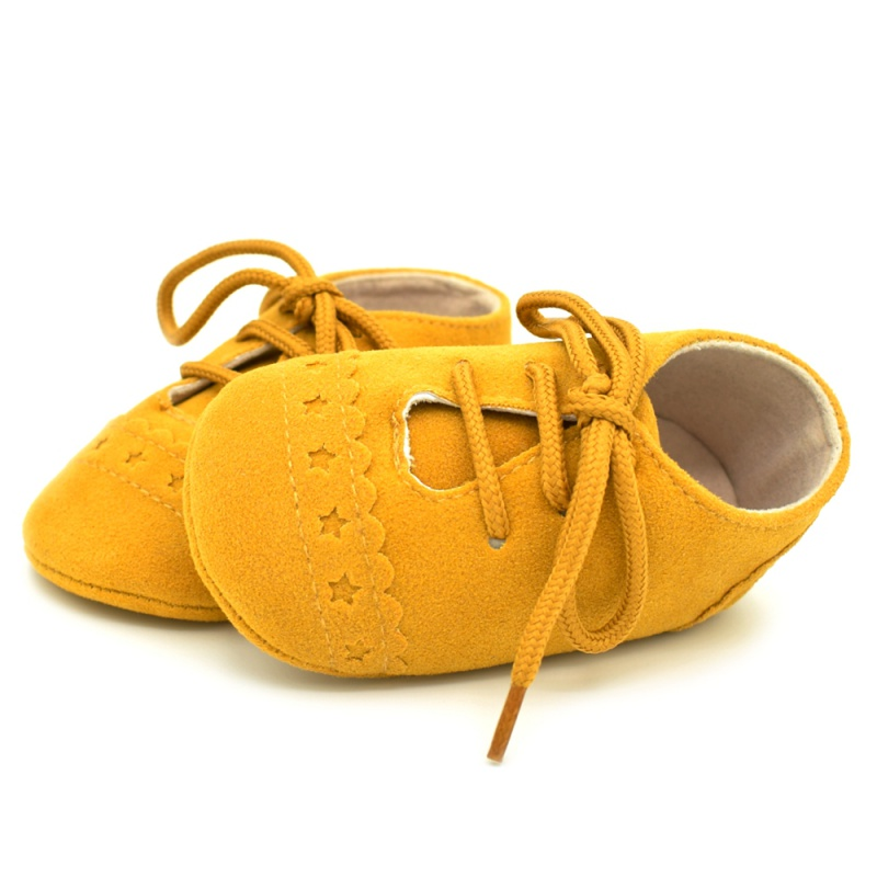 Infant Baby Girls Boys Spring Lace Up Soft Leather Shoes Toddler Sneaker Non-slip Shoes Casual Prewalker Baby Shoes 30