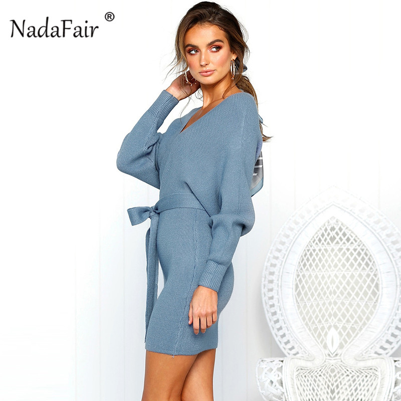 Detail Feedback Questions about Nadafair v neck knitted sweater ... c3551f082