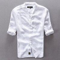 High Quality Men S Cotton Linen Shirts 2016 Slim Short Sleeve Shirt White XXXL Free Shipping