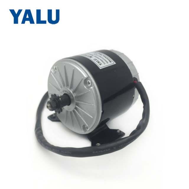 YALU 350W 24V E-bike Scooter Conversion Kit MY1016 High Speed Brushed DC Electric Bicycle Motor with 25H Sprocket Chain Driver