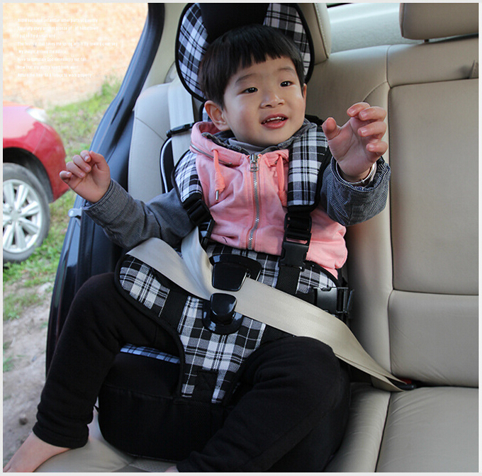 Фотография New Infant Safe Seat Baby Safety Seat 1-12 Years Old Kids Protection Portable Thickening Sponge Baby Sitting Chair In Car