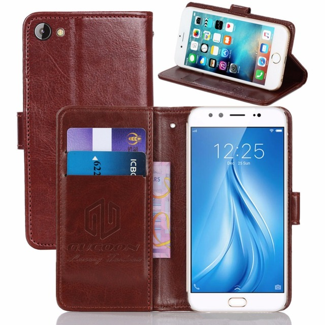 best cheap d8fa9 1e47d US $3.99 20% OFF|GUCOON Vintage Wallet Case for Vivo V5 PLUS 5.5inch PU  Leather Retro Flip Cover Magnetic Fashion Cases Kickstand Strap-in Wallet  ...