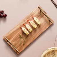Bamboo Kongfu Tea Accessories Japan Style Rectangle Sushi Serving Trays Multi Use Eco Storage Trays For Food/Tea