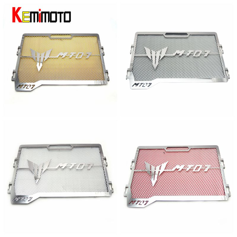 KEMiMOTO For YAMAHA MT-07 FZ-07 Radiator Grille Guard Cover Protector For Yamaha MT07 FZ07 MT 07 2015 2016 2017 motorcycle arashi radiator grille protective cover grill guard protector for yamaha yzf r1 2004 2005 2006