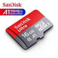 Scheda di Memoria SanDisk Ultra UHS-I U1 Trans Flash 98 MB/s C10 Carta di 16 GB micro SD microSDHC Full HD TF card per Smartphone Tablet