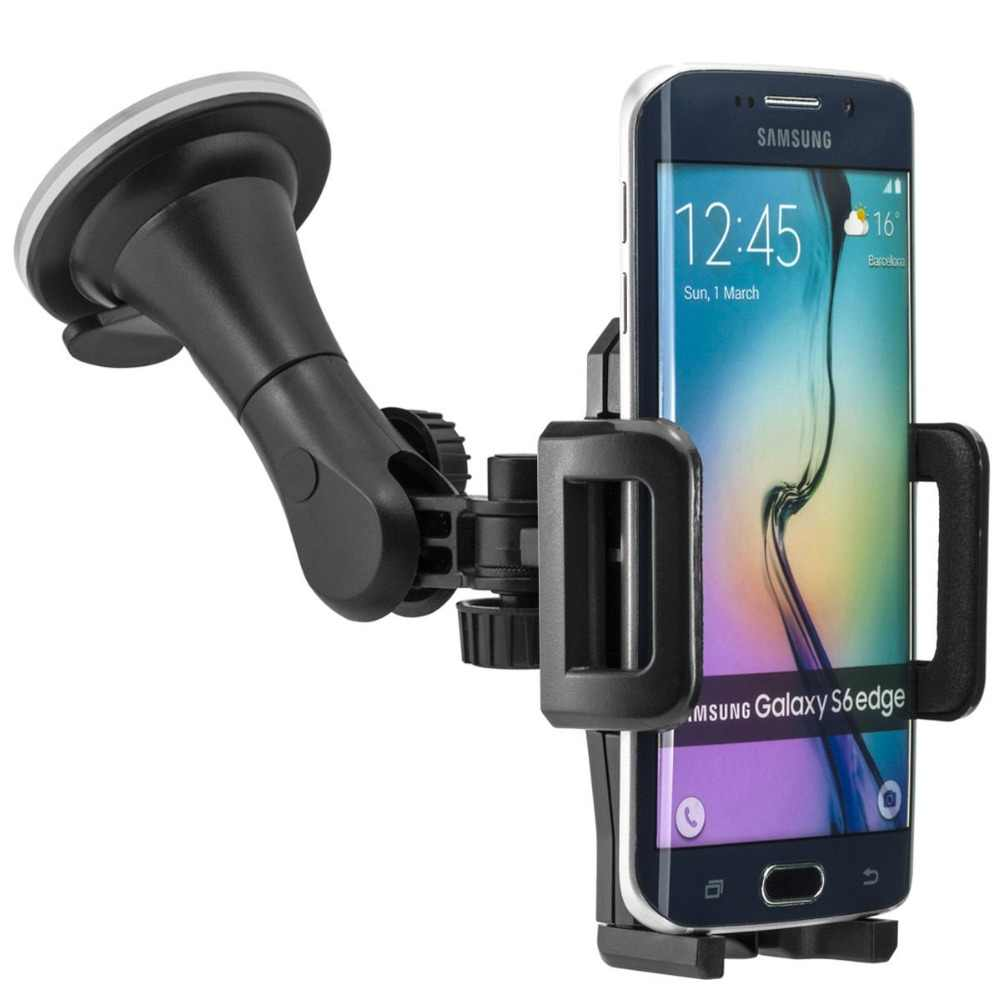 Windshield Car Holder Phone Mount For samsung galaxy s6 edge Universal cellphone GPS MID Nav Suction Glass Strong Stand