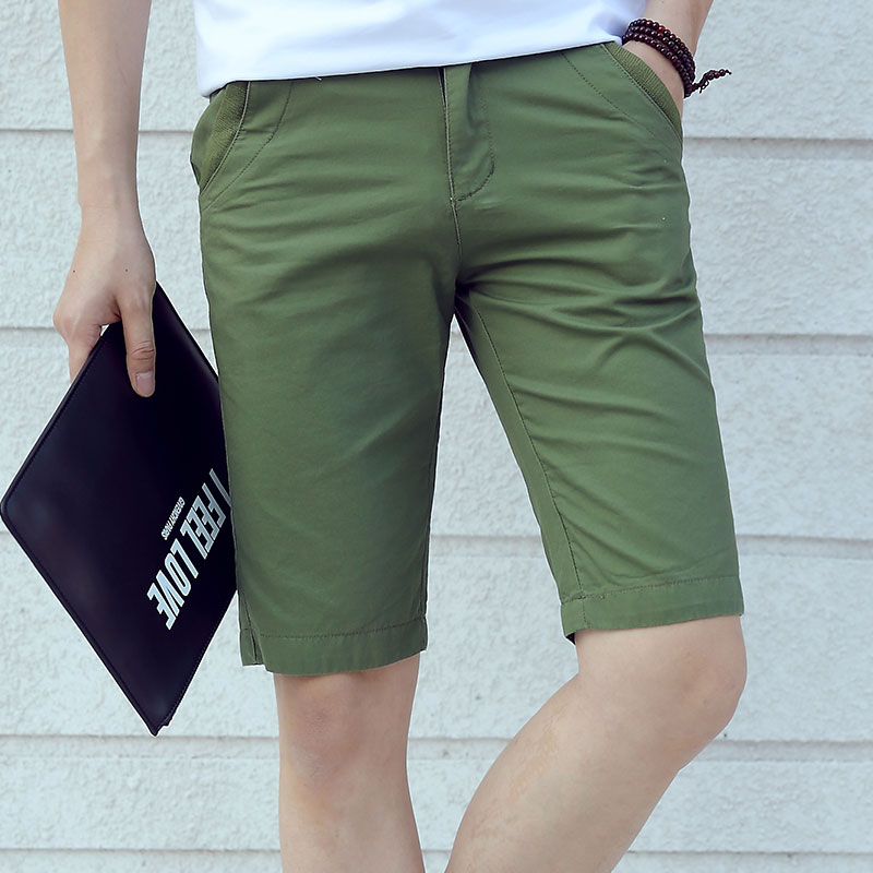 Summer Men Clothing Brand Pure Color Cotton Shorts Mens Casual Fashion Shorts Male Slim Fit Short Pants Plus Size 28-40 Homme