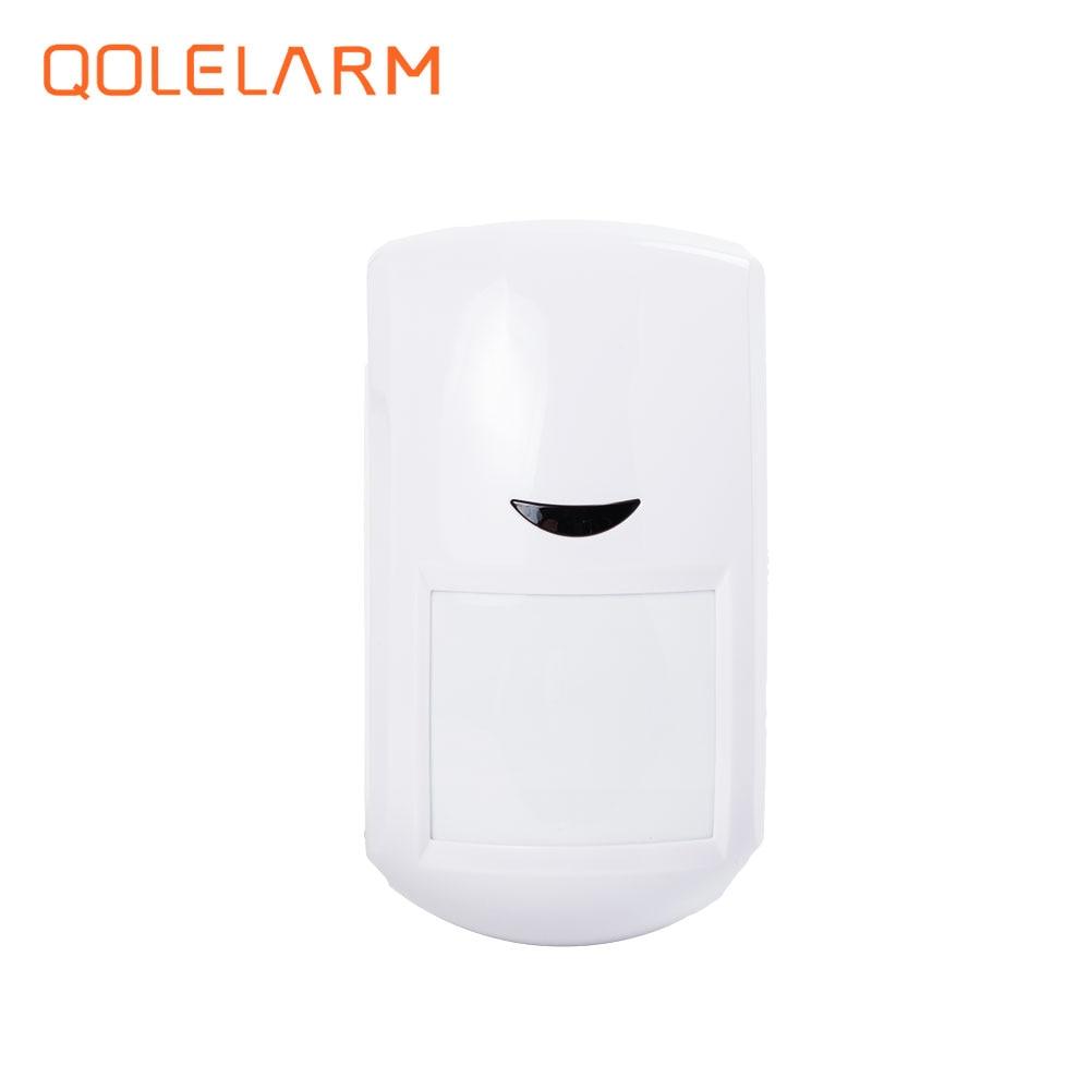 2pcs 433 MHz Wireless anti theft intelligent infrared sensor PIR detector with built-in antenna for alarm system wireless vibration break breakage glass sensor detector 433mhz for alarm system