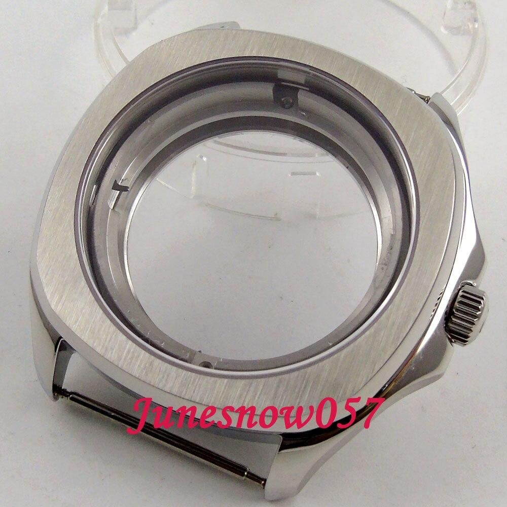 Parnis 40 มิลลิเมตรแปรง 316L นาฬิกา Sapphire คริสตัลดูผ่านกลับ case ETA 2836 miyota 8215 การเคลื่อนไหว C129-ใน หน้าปัดนาฬิกา จาก นาฬิกาข้อมือ บน   1