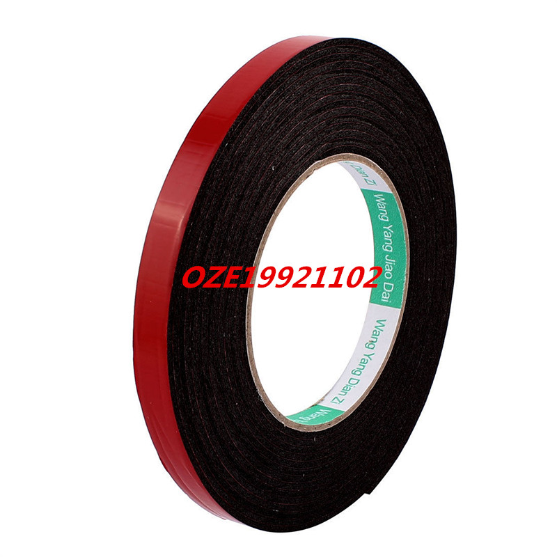 Black Strong Double Sided Adhesive Tape Sponge Tape 12MM Width 5M Long miaogy 5 rolls 6mm 25m strong pet double sided adhesive tape for auto car abs plastic panel battery glass bond