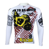 ARIZONA RN TO BE WILD Men Long Short Sleeve Cycling Jersey Fashion Bicycle Top Racer Bike