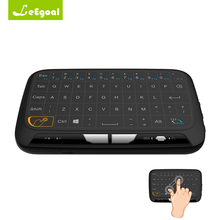 2.4GHz Wireless Full Touchpad Mini Keyboard H18 Air Mouse TV Remote Control Mouse For PC Windows Android TV Box Google Linux Mac