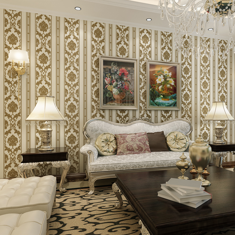 Retro Luxury European Style Carved Non-Woven Wallpaper 3D Stereo Relief Bedroom Living Room Sofa TV Backdrop Photo Wallpaper 3 D book knowledge power channel creative 3d large mural wallpaper 3d bedroom living room tv backdrop painting wallpaper