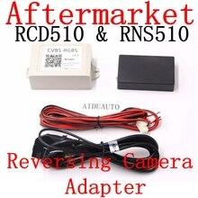 AV decoder video Converter Box CVBS-RGBS RCD510 RNS510 RNS315 Rear view Av Camera Converter Adapter CVBS To RGB Box rgb rns315 rns 510 rcd 510 box cvbs to rgb and av to rgb converter adapter for vw passat cc tiguan oem flip rear view camera