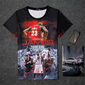 New LeBron James #23 History 3D Print T-shirt Cotton Unisex Summer Tee  player Shirts Teen Loose Homme Fans Tops Boy