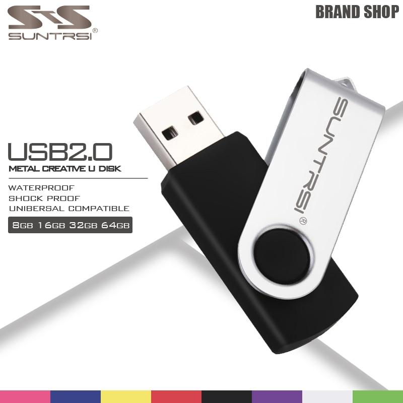 Suntrsi Pendrive 64GB Metal USB Flash Drive 16GB High Speed Pen Drive Popular USB Stick Real Capacity USB Flash Wholesale Price