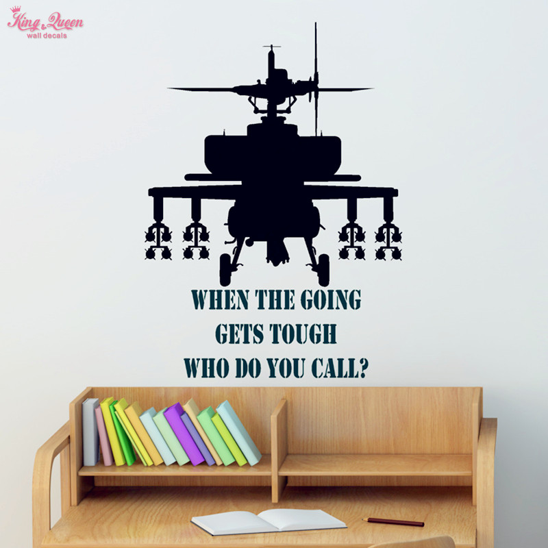 Aliexpress.com : Buy Gunship Wall Sticker Vinyl Quotes