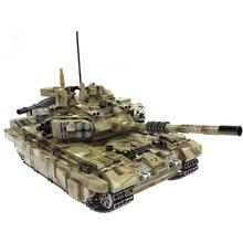 Военная армия T90 танка строительные блоки игрушка совместима с Legoed Technic классическая фигура военное оружие кирпич детская игрушка