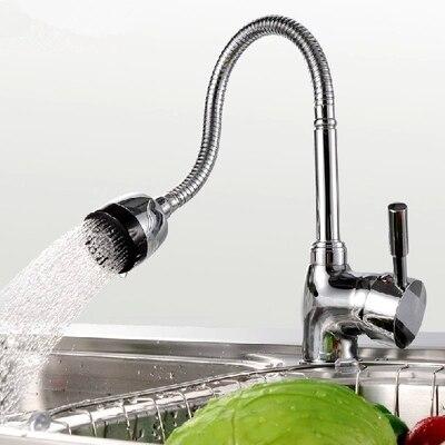 inviare due tubo in ottone massiccio miscelatore da cucina rubinetto della cucina singolo foro fredda e