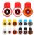 1 unids de Calidad Superior 3 en 1 Universal Clip de la cámara Len Teléfono Móvil con 8 LED Flash y 3 Filtro Fish Eye + Macro + Gran Angular
