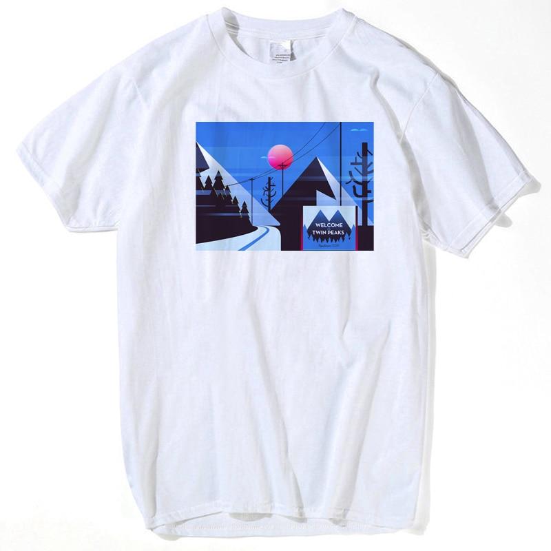 wholesale mens t shirts xxl 2017 fashion Twin Peaks funny t shirts brand streetwear clothing tee shirt homme plus size s-xxxl