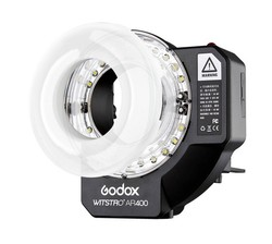 Free DHL Godox Witstro AR400 400W Li-ion Battery Ring Flash Speedlite + LED Video Light+FT-16 CD50 A04