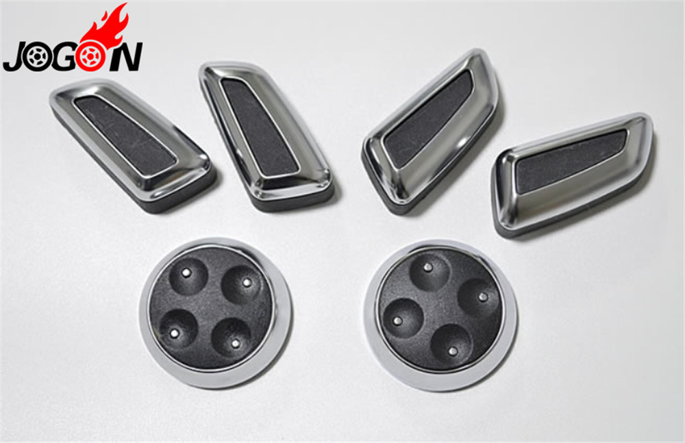 Seat Adjustment Button Cover For Audi A3 A4 B8 A5 A6 C7 C6 A7 Q3 Q5 Chrome Car  Switch Sticker Trim Black & Beige Replacement